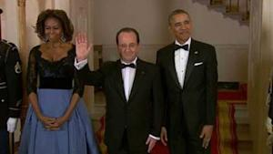 White House Throws Deluxe Dinner for French Presid…