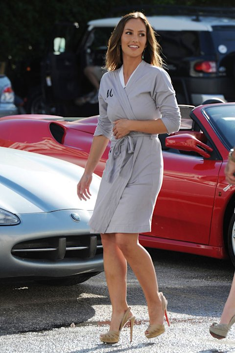 Minka Kelly on the set of the television series &quot;Charlie's Angels&quot; on March 16, 2011 in Miami Beach, Florida. 