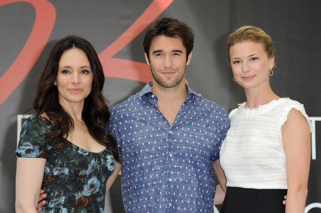 Madeleine Stowe, Josh Bowman and Emily VanCamp attend a photocall during the 52nd Monte Carlo TV Festival, Monaco, on June 12, 2012 -- Getty Images