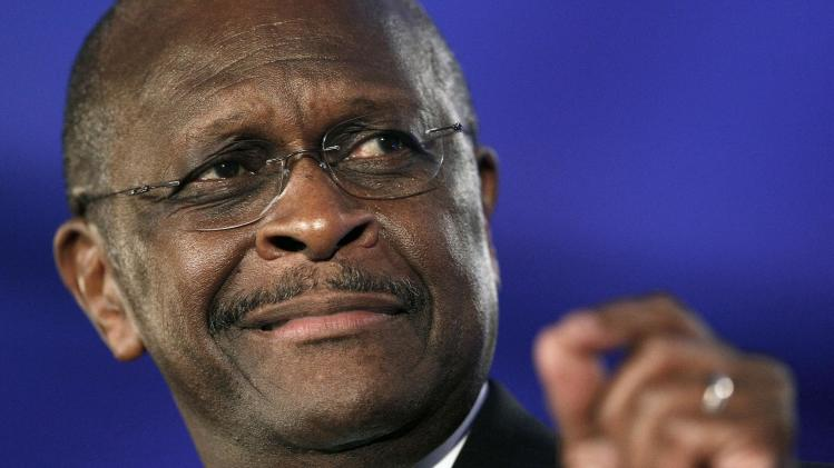 FILE - In this Friday, June 17, 2011  file photo, Republican presidential hopeful Herman Cain speaks at the Republican Leadership Conference in New Orleans. Bolstered by support from his loyal radio talk-show audience and tea partyers, businessman Herman Cain has revved up mainstream conservatives, rising recently to third place in a poll of voters in Iowa, the leadoff caucus state. (AP Photo/Patrick Semansky, File)