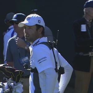 Robert Streb delivers a beautiful tee shot at Waste Management