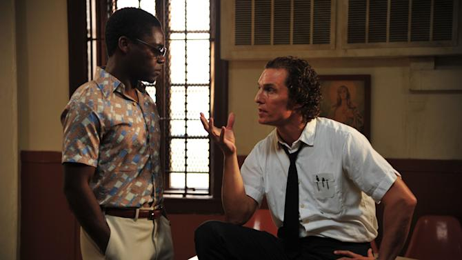 "This film image released by Millennium Films shows David Oyelowo, left, and Matthew McConaughey in a scene from ""The Paperboy.""  (AP Photo/Millennium Films, Anne Marie Fox)"