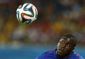 Altidore of the U.S. controls the ball during their 2014 World Cup Group G soccer match against Ghana at the Dunas arena in Natal