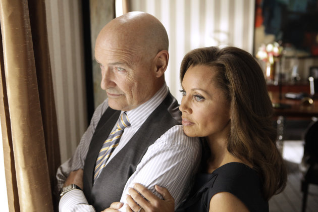 "This image released ABC shows Vanessa Williams as Olivia Doran, right, and Terry O'Quinn as Gavin Doran in a scene from the ABC series ""666 Park Avenue,"" premiering Sunday, Sept. 30 at 10 p.m. EST on"