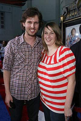 Jon Heder and wife at the Hollywood premiere of Paramount Pictures' Hot Rod