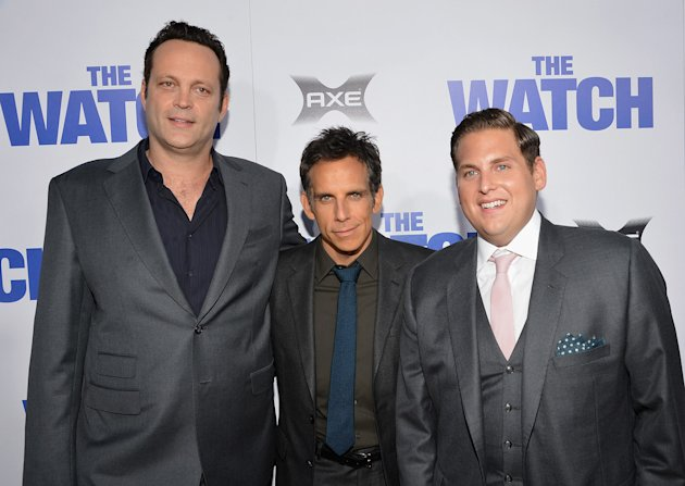 The Watch LA Premiere, Vince Vaughn, Ben Stiller, Jonah Hill