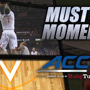 UVA's Justin Anderson Amazing Reverse Alley Oop | ACC Must See Moment
