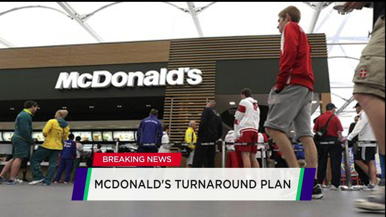 McDonald's down after turnaround plan; Comcast jumps on beat; Icahn still big on Apple