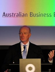 <p>Australia's central bank cut interest rates to 3.25 percent, their lowest level since the global financial crisis, warning that the growth outlook for next year had weakened. Governor Glenn Stevens (pictured in July) said global weakness was weighing on the outlook, with Europe contracting and the United States only seeing modest growth.</p>