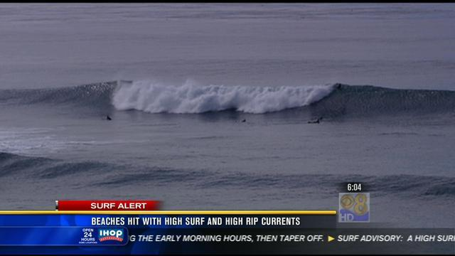 High surf at local beaches