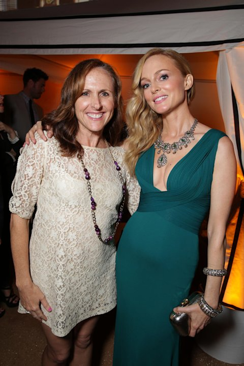 Molly Shannon and Heather Graham arrive at Warner Bros. Premiere of The Hangover: Part III, on Monday, May, 20, 2013 in Los Angeles. (Photo by Eric Charbonneau/Invision for Warner Bros./AP Images)