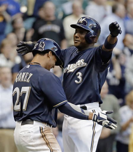 Betancourt hits 8th HR, Brewers beat Rangers 6-3