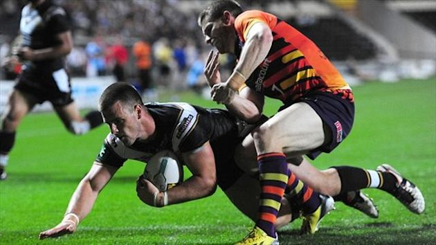 Joe Arundel, left, fractured his hand in Hull FC's clash against Salford