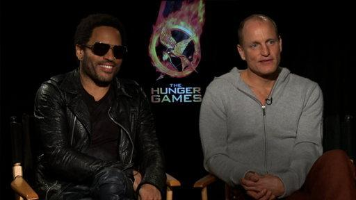 Woody Harrelson and Lenny Kravitz On The Hunger Games