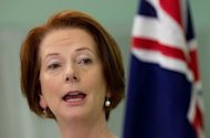 File picture of Australian Prime Minister Julia Gillard. Australia's trade deficit blew out to more than US$2 billion in August, data showed Wednesday, with exports diving as China's slowdown hit the key mining sector, increasing pressure on the economy