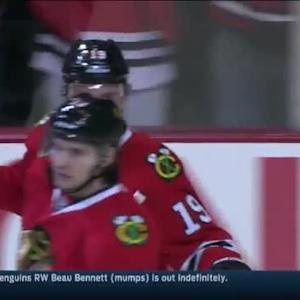 Jonathan Toews Goal on Niklas Backstrom (16:21/2nd)