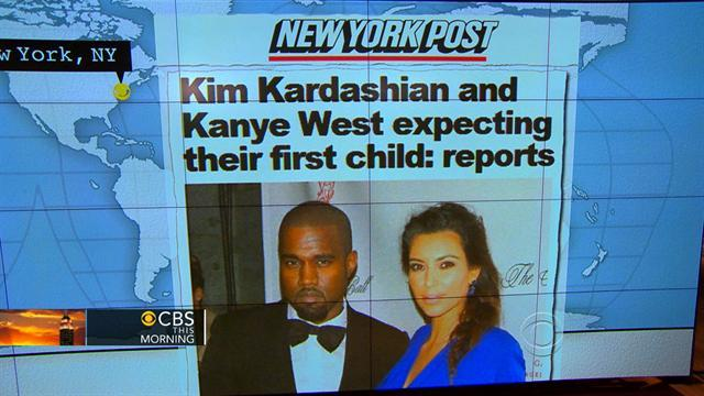 Headlines: Kanye West, Kim Kardashian expecting first child