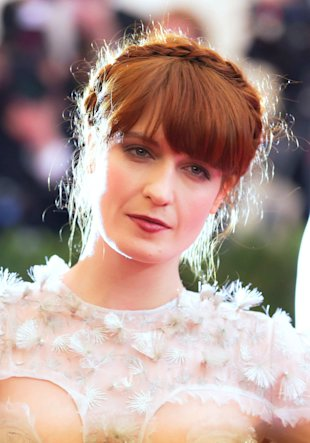 Florence Welch and Candice Swanepoel Work This Season's Halo Hair Trend