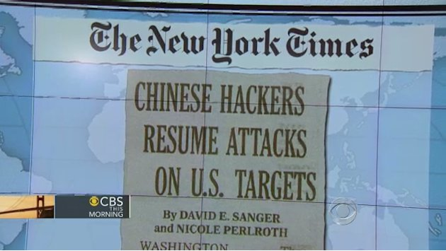 Headlines: Chinese resume hacking U.S. targets