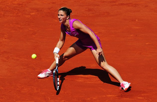 Sara Errani Of Italy In Action In Her Women's Singles Getty Images