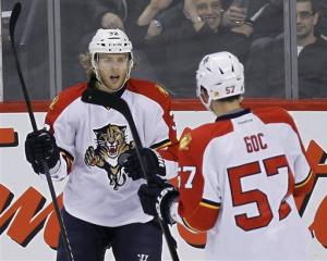 Versteeg's hat trick gives Panthers win over Jets