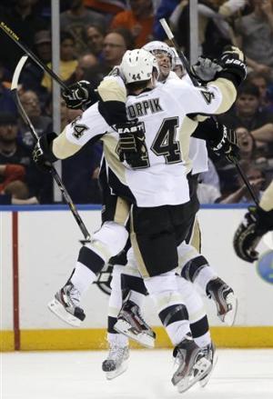 Orpik's OT goal sends Penguins to 2nd round