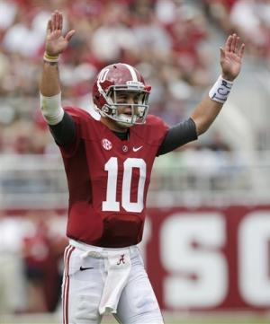 McCarron, No. 1 Alabama top Western Kentucky, 35-0