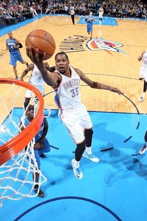 Durant has 28 and Thunder hold off Magic 101-98