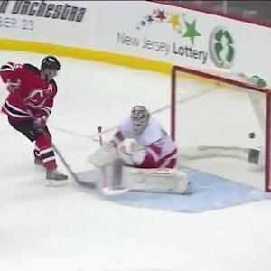 Andy Greene redirects one past Gustavsson
