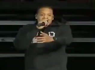 Jay-Z Performs '99 Problems (But a Mitt Ain't One)'  (Video)