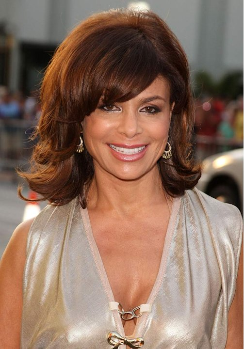 "Paula Abdul arrives at the World Premiere of ""Swing Vote"" at the El Capitan Theatre on July 24, 2008 in Hollywood, California."
