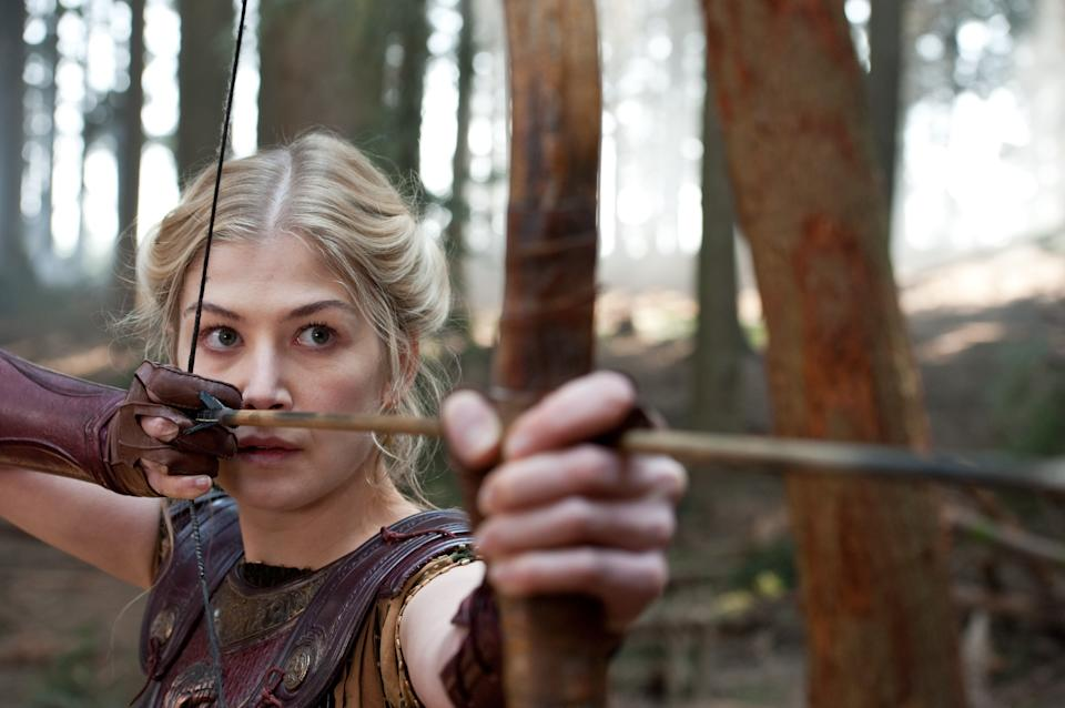 "In this film image released by Warner Bros., Rosamund Pike portrays Andromeda in a scene from ""Wrath of the Titans."" (AP Photo/Warner Bros. and Legendary Pictures, Jay Maidment)"