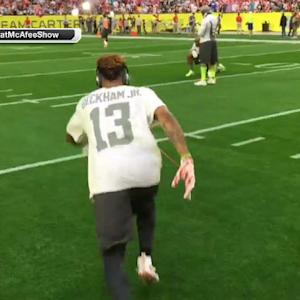 New York Giants wide receiver Odell Beckham makes 46-yard field goal