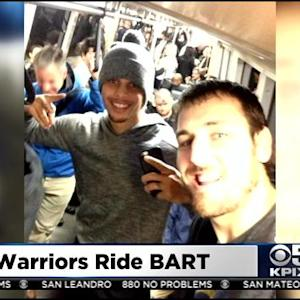 Golden State Warriors Take BART Home After SF Charity Event