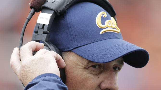 FILE - In this Oct. 30, 2010, file photo, California head coach Jeff Tedford looks on from the sidelines during an NCAA college football game with Oregon State in Corvallis, Ore. Tedford was fired on Tuesday, Nov. 20, 2012, after 11 seasons at California that began with great promise and ended with a disappointing run of mediocrity. (AP Photo/Rick Bowmer, File)