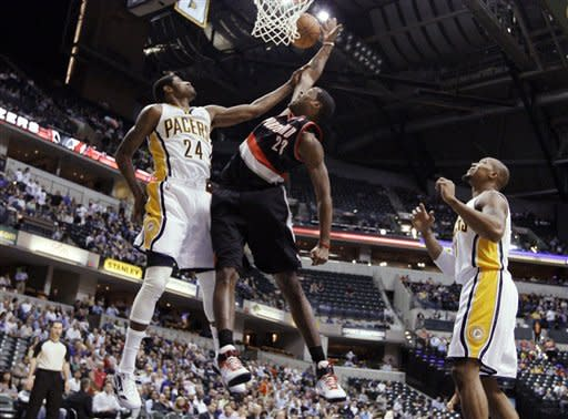 Amundson leads Pacers past Trail Blazers