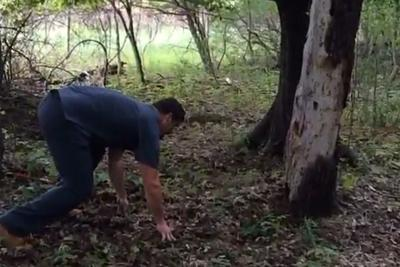 Penn State's Anthony Zettel discusses the finer points of tree tackling