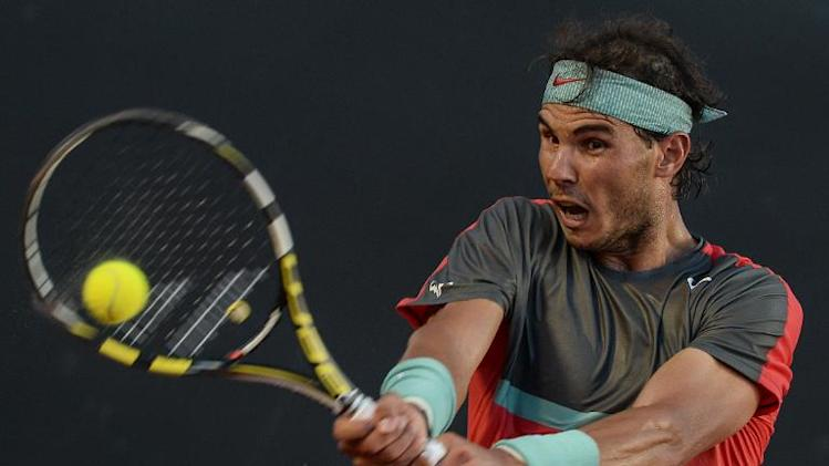 Rafael Nadal of Spain, seen in action during the Rio Open turnament, in Rio de Janeiro, Brazil, on February 23, 2014