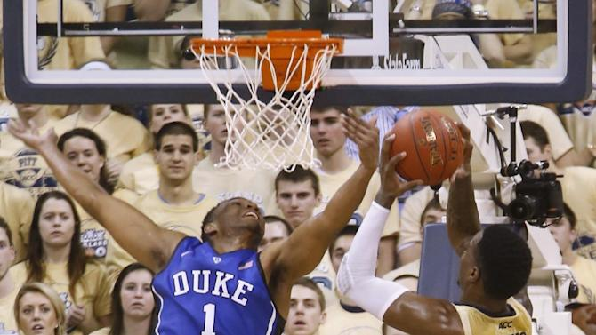 Parker leads No. 17 Duke by No. 18 Pitt 80-65