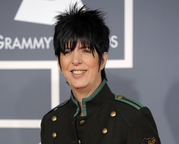 FILE - This Feb. 12, 2012 file photo shows songwriter Diane Warren arriving at the 54th annual GRAMMY Awards in Los Angeles. Tony Award-winning producer Dede Harris has optioned the Warren&#39;s music catalogue. The creative team and a timeline for the project will be announced at a later date. Warren&#39;s writing credits include Aerosmith&#39;s &quot;I Don&#39;t Want to Miss a Thing,&quot; Celine Dion&#39;s &quot;Because You Loved Me,&quot; Toni Braxton&#39;s &quot;Un-Break My Heart,&quot; LeAnn Rimes&#39; &quot;How Do I Live&quot; and &quot;I Was Here&quot; for Beyonce. Harris is the Tony Award-winning producer of &quot;Hairspray,&quot; &quot;Dirty Rotten Scoundrels&quot; and &quot;A Raisin in the Sun.&quot; Her recent hits include One Man, Two Guvnors, War Horse and Clybourne Park. (AP Photo/Chris Pizzello, file)