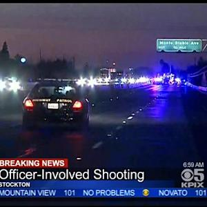 Stockton Police Shoot, Kill Armed Suspect After I-5 Chase