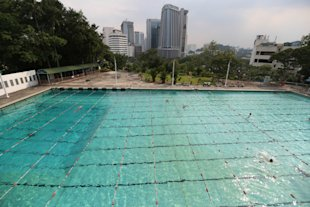 Kuala Lumpur's first Olympic-sized swimming pool was built on Chin Woo's land in 1954 and still remains popular with the public.