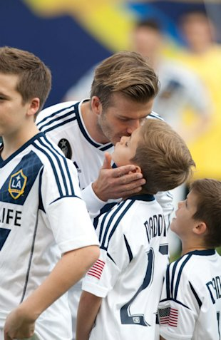 PHOTOS: David Beckham Makes It A Family Affair At Last Game For LA Galaxy