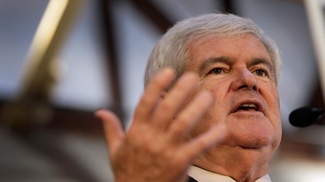 Gingrich Attends BBQ On Campaign Trail Ahead Of Debate