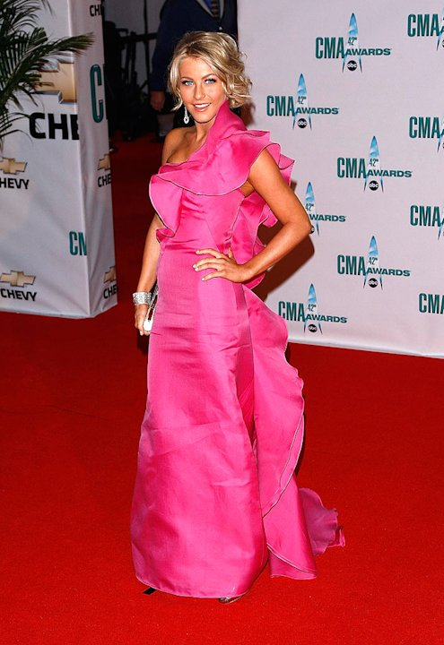 Singer/dancer Julianne Hough attends the 42nd Annual CMA Awards at the Sommet Center on November 12, 2008 in Nashville, Tennessee. 