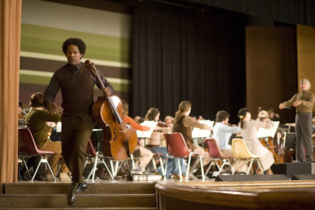 The Soloist Production Stills 2008 DreamWorks Jamie Foxx