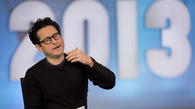 """Producer and director J.J. Abrams, speaks during a keynote discussion with Valve president and co-founder Gabe Newell (not pictured) at the D.I.C.E. Summit, Wednesday, Feb. 6, 2013, in Las Vegas. Abrams, a longtime darling of the science fiction crowd, discussed his vision for a new """"Star Wars"""" film and possible spinoff video games. (AP Photo/Julie Jacobson)"""