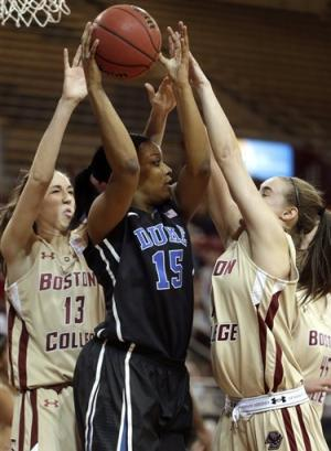 Unbeaten and No. 3 Duke beats Boston College 90-53