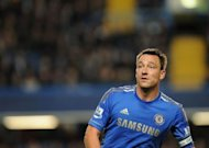 Chelsea's John Terry on the field during the third round English League Cup football match between Chelsea and the Wolverhampton Wanderers at Stamford Bridge, London. Terry showed no signs of being affected by his battle to clear his name over allegations he racially abused Anton Ferdinand as the Chelsea captain led his side to a 6-0 demolition of Wolves in the League Cup third round on Tuesday
