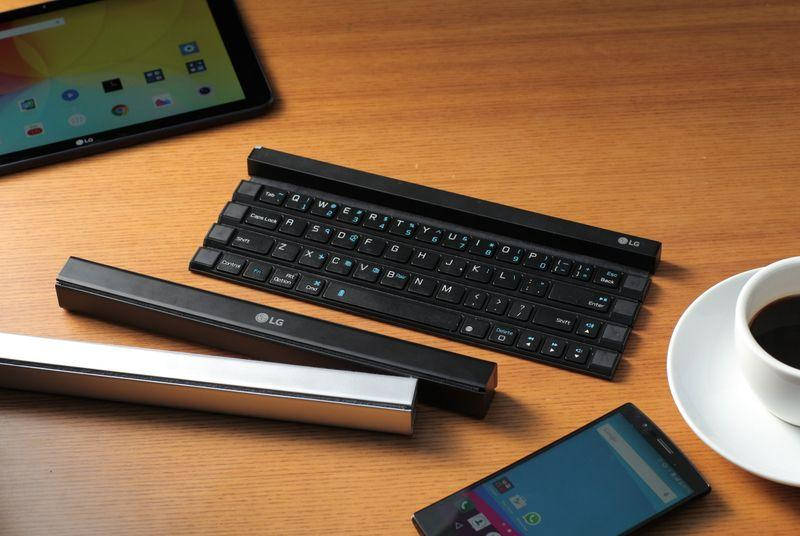 LG's new Rolly wireless keyboard turns into a pocket stick